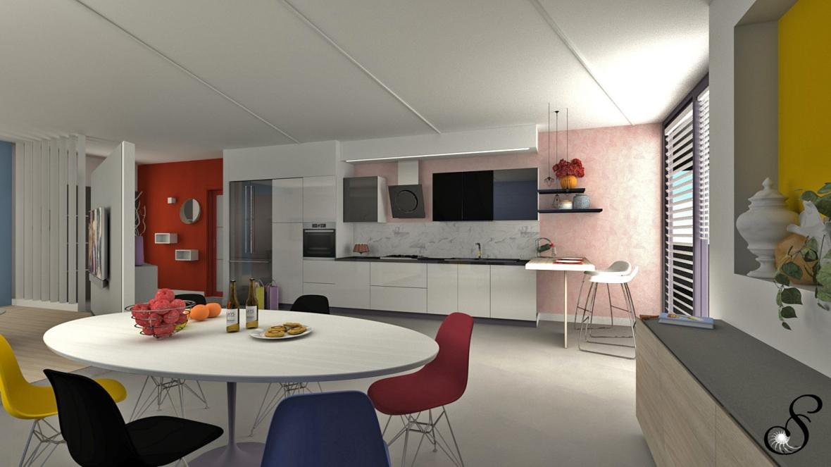 rinnovare l'open space - colori in casa - come abbinare i colori in casa - progetti d'interni online - progettare con il colore - interior design forlì