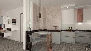 cucina penisola -soggiorno - progettare la cucina