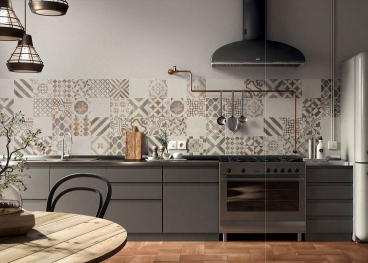 piastrelle cementine-cementine-arredare con i colori-rivestimento cucina