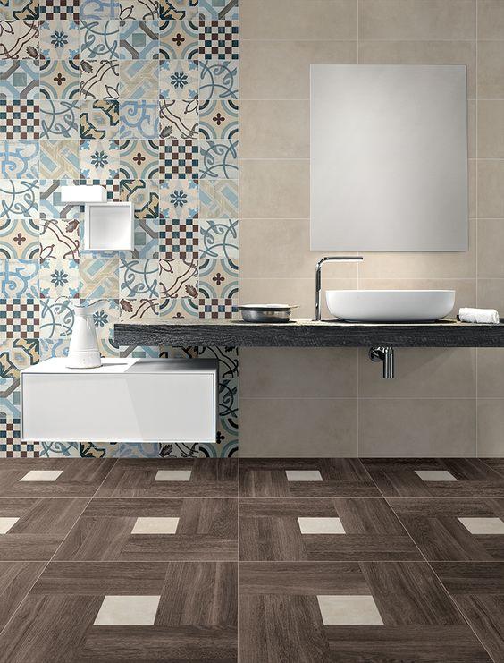 piastrelle cementine-colore in casa-arredare con i colori-pareti colorate-elementi decorativi