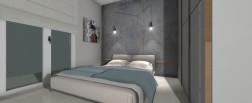 Camera da letto illuminata